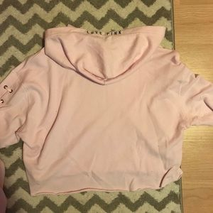 PINK Victoria's Secret Tops - 💕Cropped VS Pink Hoodie